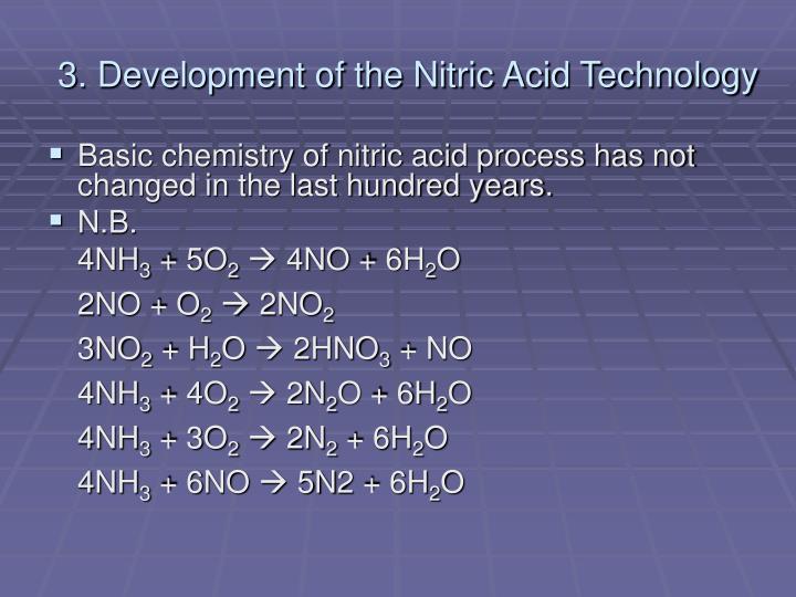 3. Development of the Nitric Acid Technology