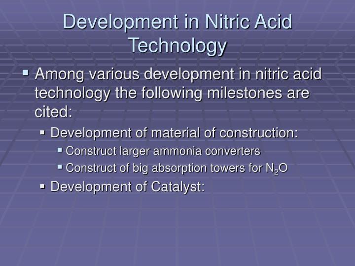 Development in Nitric Acid Technology