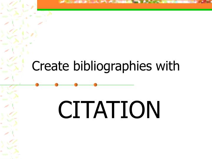 create bibliographies with n.