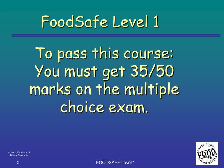 FoodSafe Level 1