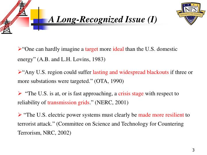 A Long-Recognized Issue (I)
