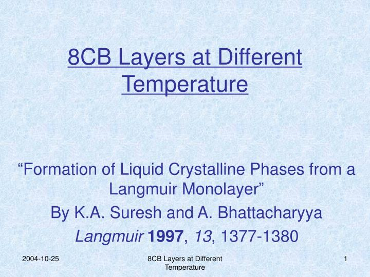 8cb layers at different temperature n.