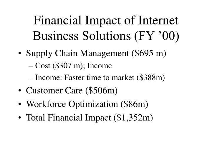Financial Impact of Internet Business Solutions (FY '00)