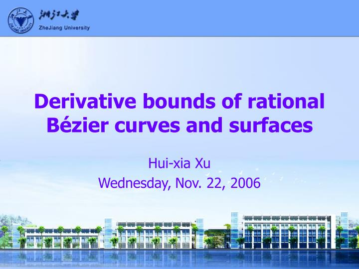 derivative bounds of rational b zier curves and surfaces