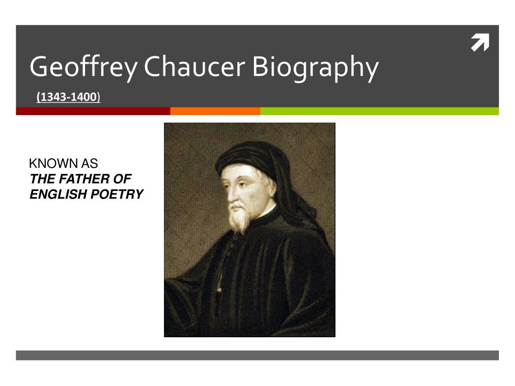geoffrey chaucer short biography