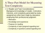a three part model for measuring text complexity2