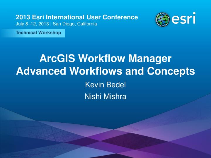 arcgis workflow manager advanced workflows and concepts n.