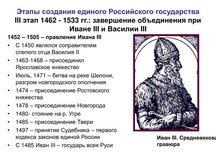 1452 – 1505 – правление Ивана