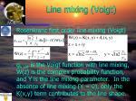 line mixing voigt