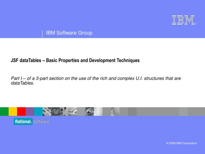 jsf datatables basic properties and development techniques n.