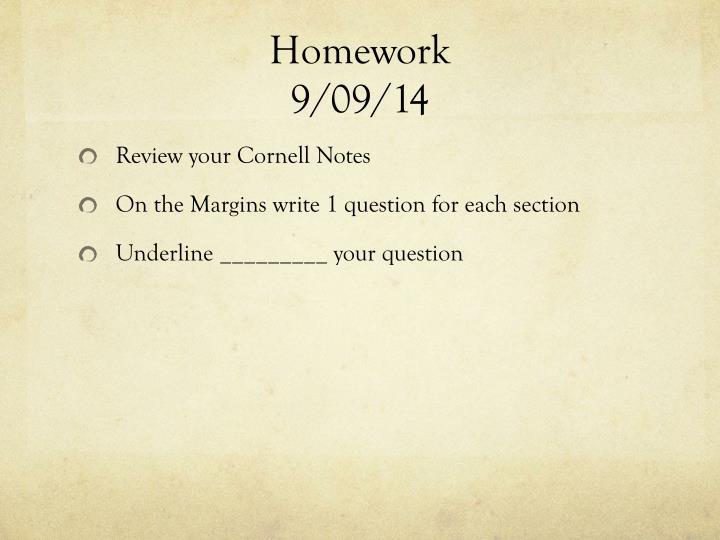 Homework 9 09 14