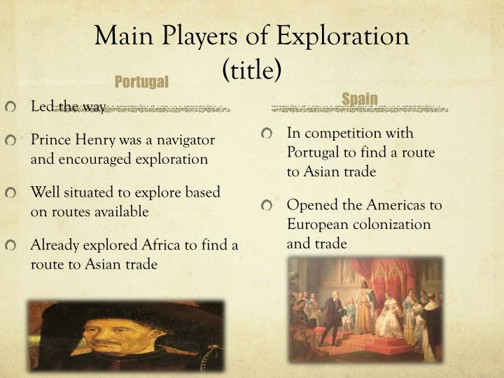 Main Players of Exploration