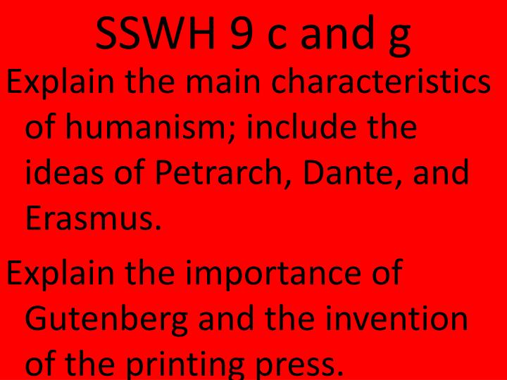 Sswh 9 c and g