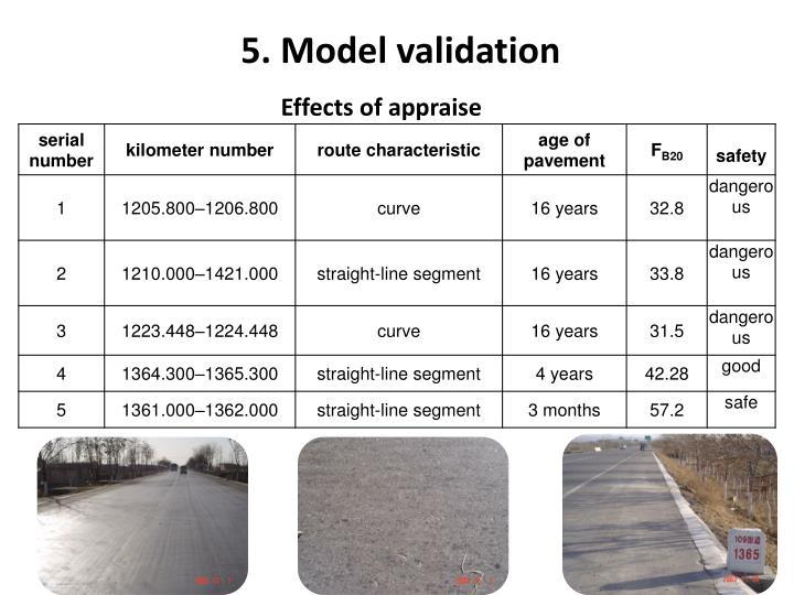 5. Model validation