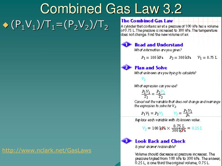 Combined Gas Law 3.2