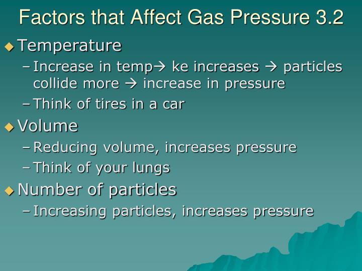 Factors that Affect Gas Pressure 3.2