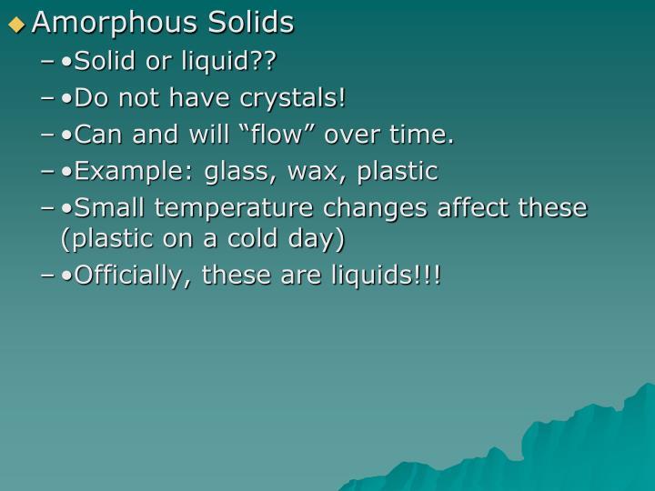 Amorphous Solids