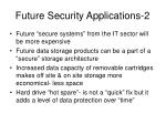 future security applications 2