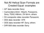 not all helical scan formats are created equal examples