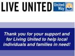 thank you for your support and for living united to help local individuals and families in need