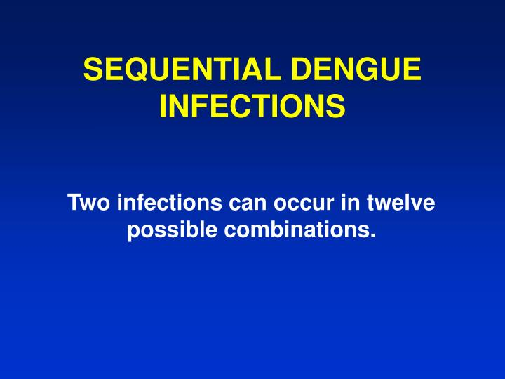 SEQUENTIAL DENGUE INFECTIONS