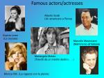famous actors actresses