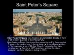 saint peter s square