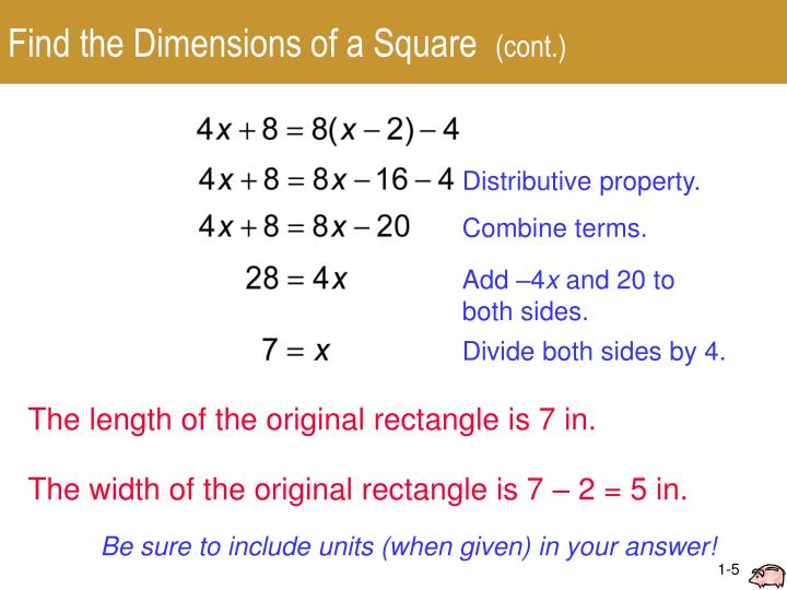 how to find dimensions of a square