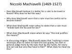 niccol machiavelli 1469 15271