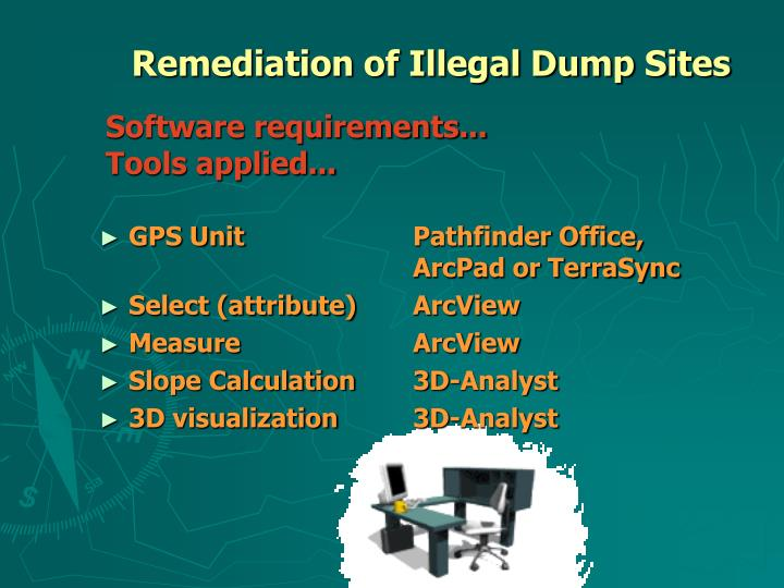 Remediation of Illegal Dump Sites