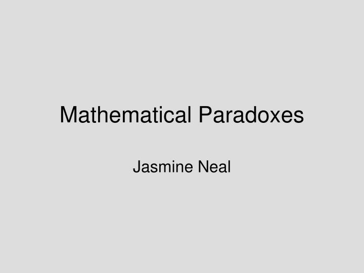 mathematical paradoxes n.