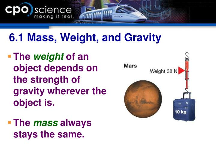 6.1 Mass, Weight, and Gravity