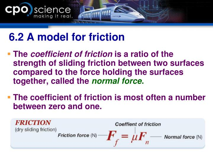 6.2 A model for friction