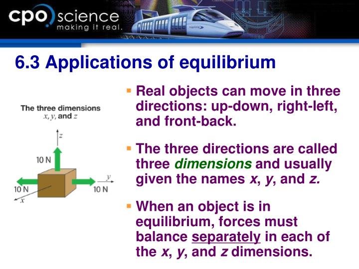 6.3 Applications of equilibrium