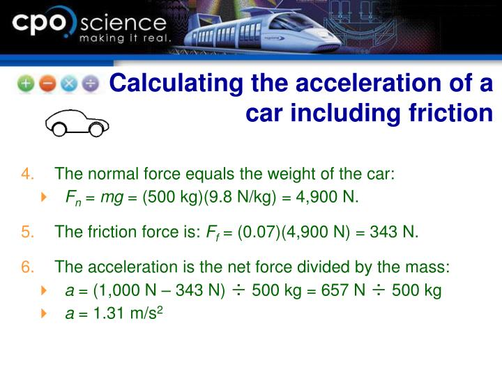 Calculating the acceleration of a