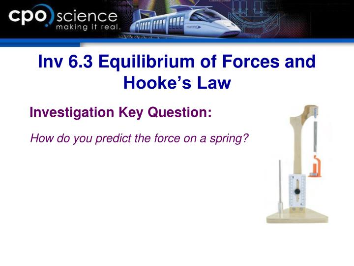 Inv 6.3 Equilibrium of Forces and Hooke's Law