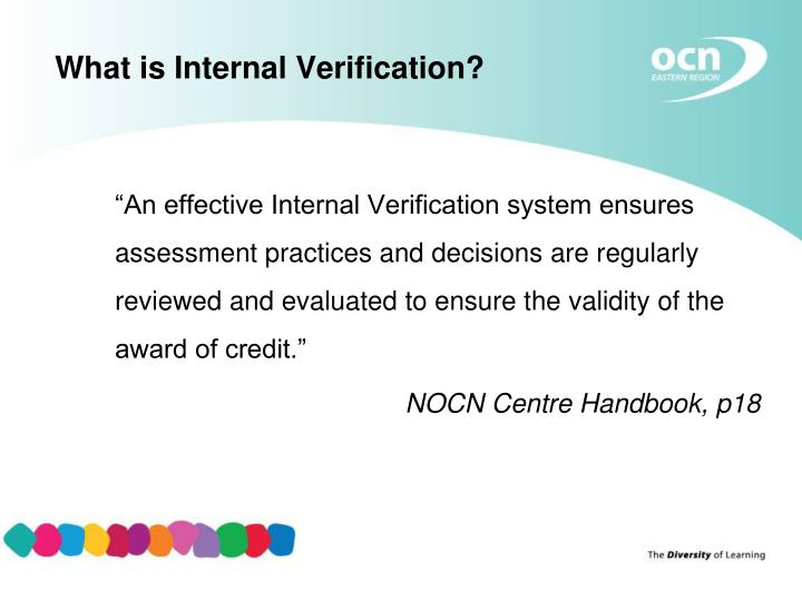 What is Internal Verification?