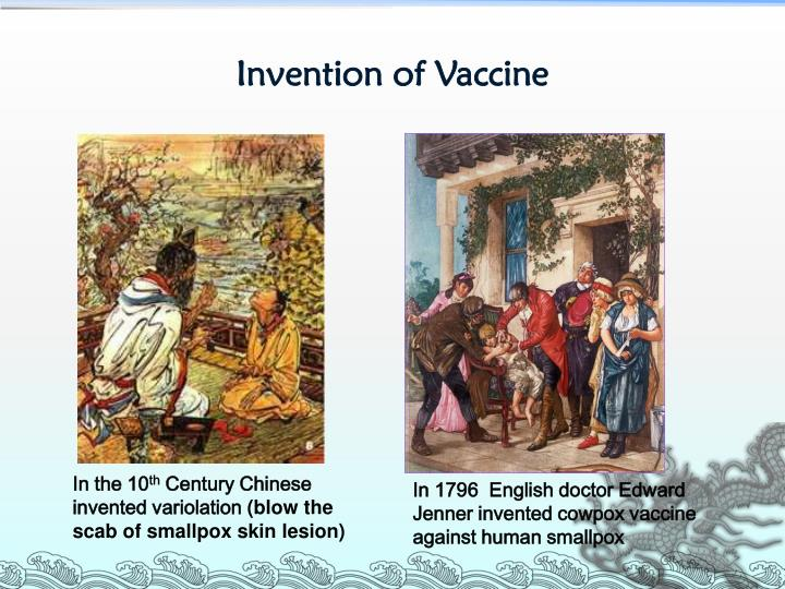 Invention of Vaccine