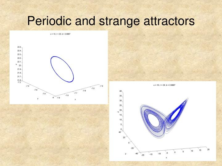 Periodic and strange attractors