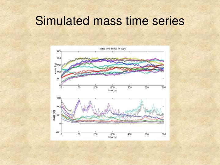 Simulated mass time series