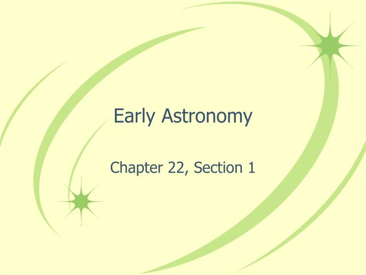 early astronomy n.