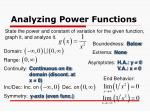 analyzing power functions1