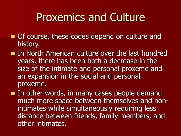 Proxemics and Culture