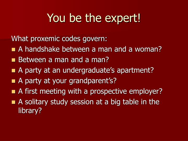 You be the expert!