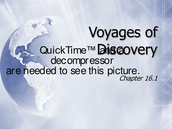 voyages of discovery n.