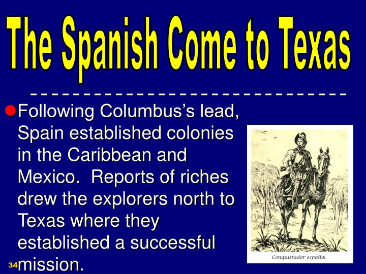 The Spanish Come to Texas