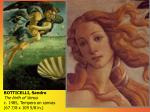 botticelli sandro the birth of venus c 1485 tempera on canvas 67 7 8 x 109 5 8 in