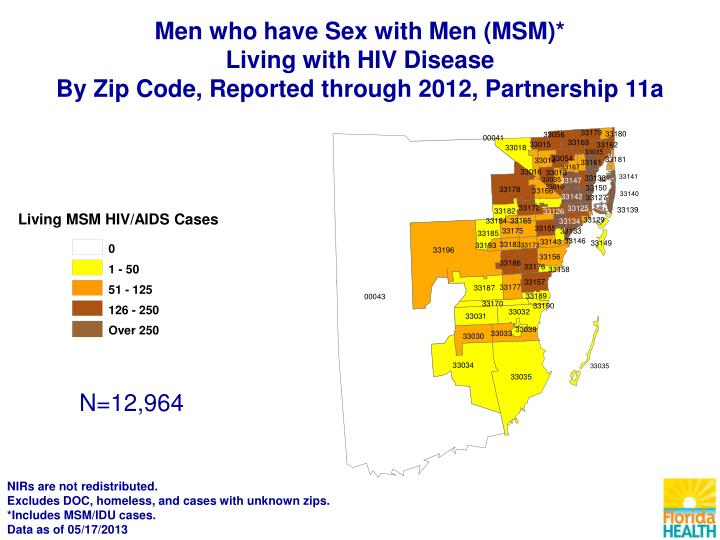 Living MSM HIV/AIDS Cases