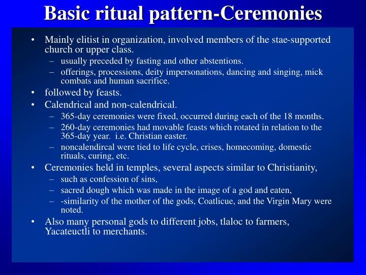 Basic ritual pattern-Ceremonies
