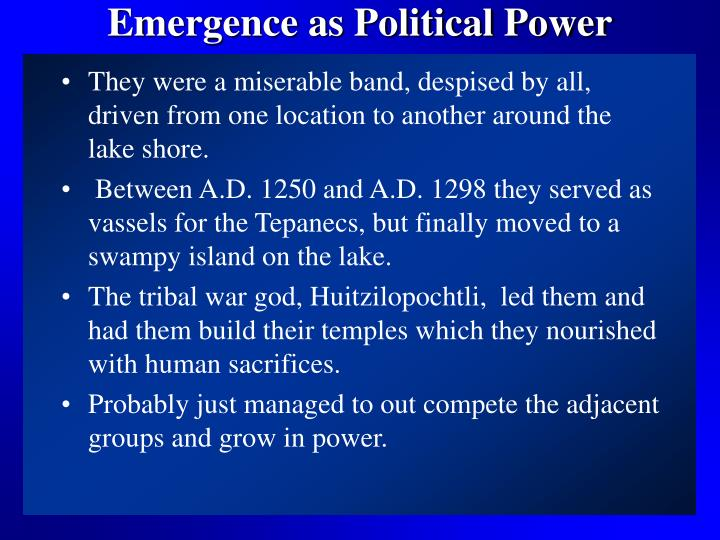 Emergence as political power